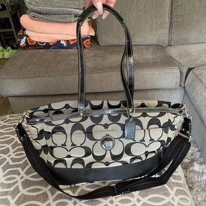 Coach Signature Multifunction Diaper Baby Tote bag